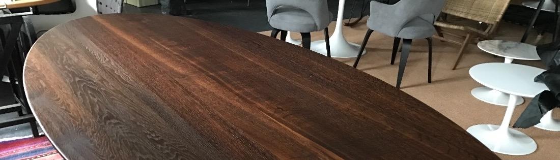Tulp tafels met massief houten blad in 5 soorten!